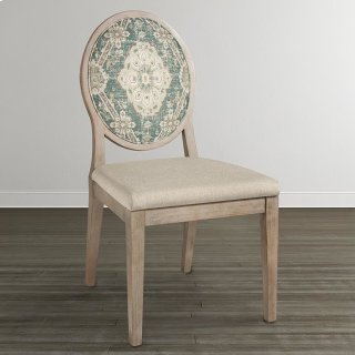 Custom Dining Oval X-Back Uph Arm Chair