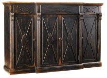 Dining Room Sanctuary 4-Door 3-Drawer Credenza - Ebony & Drift