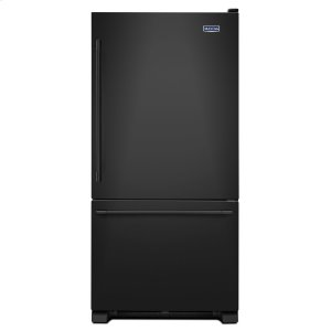 33-Inch Wide Bottom Mount Refrigerator - 22 Cu. Ft. Black - BLACK