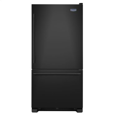 33-Inch Wide Bottom Mount Refrigerator - 22 Cu. Ft. Black