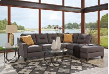 Kirwin Nuvella - Gray 2 Piece Sectional