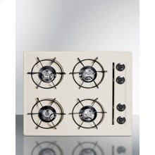 """24"""" Wide Cooktop In Bisque, With Four Burners and Gas Spark Ignition; Replaces Stl033"""