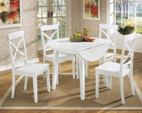 Granlyn Round Drop-Leaf Table Set