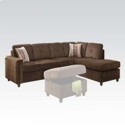 CHOCOLATE OTTOMAN W/STORAGE Product Image