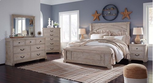 Charmyn - White Wash 2 Piece Bedroom Set