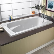 60x32 inch EverClean Whirlpool - White