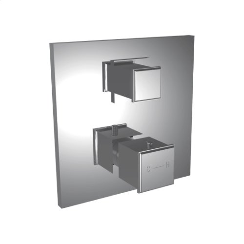 """7098mc-tm - 1/2"""" Thermostatic Trim With 3-way Diverter in Polished K Gold"""