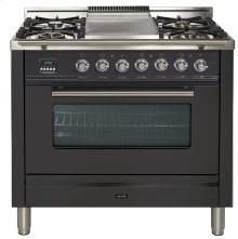 "36"" - 5 Burner, Single Oven w/ Griddle in Matte Graphite"
