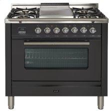 "36"" - 5 Burner, Single Oven w/ Griddle in Matte Graphite"