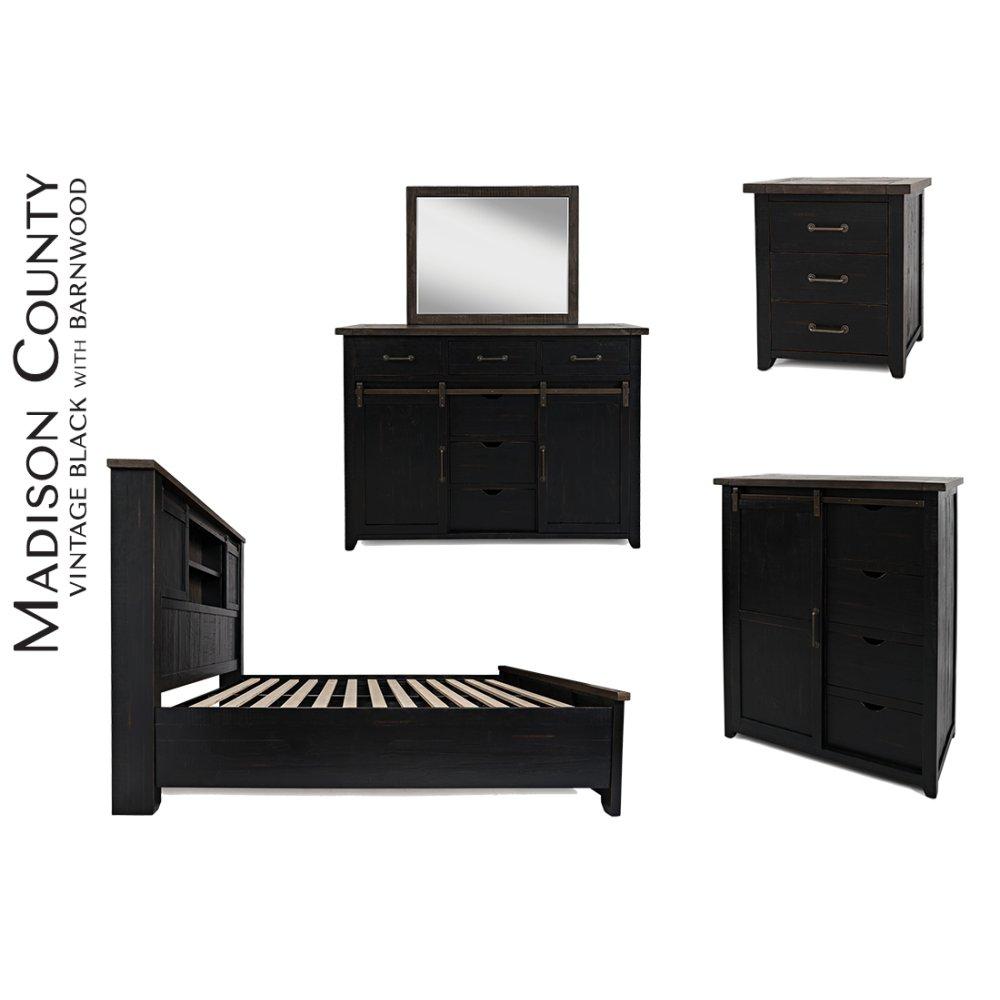 Madison County Door Dresser - Vintage Black