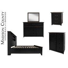 Madison County King Barn Door Bed - Vintage Black