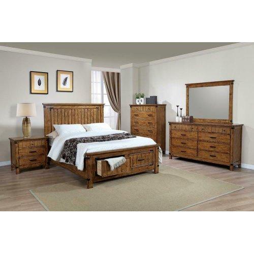 Brenner Rustic Honey Full Storage Bed