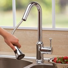 Pekoe 1-Handle Pull Down 1.5 GPM High-Arc Kitchen Faucet  American Standard - Polished Chrome