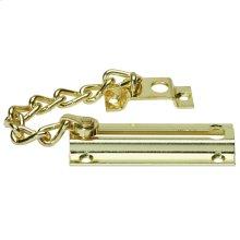 Door Hardware  Chain Door Guard - Bright Brass
