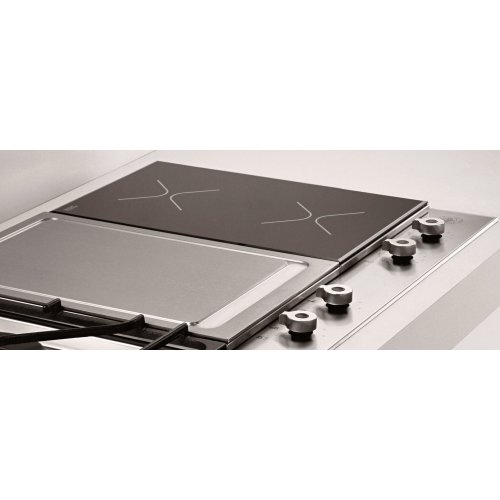36 Segmented Cooktop 1-burner, 2 induction zones and griddle Stainless
