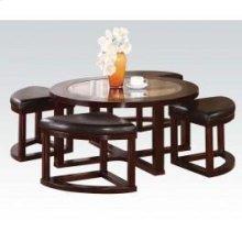 5pc Pk Coffee Table/4 Ottomans