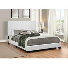 Mauve Upholstered Platform White Full Bed