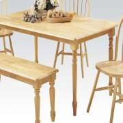 """NATURAL 36x60"""" SOLID TOP TABLE Product Image"""