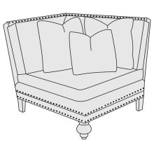 Brae Corner Chair in Mocha (751)