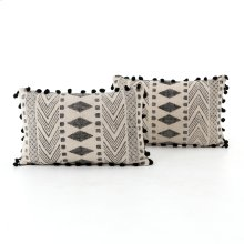 "16x24"" Size Faded Block Print Pillow, Set of 2"
