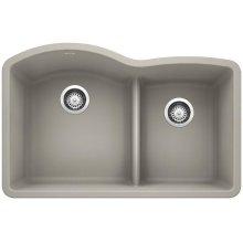 Blanco Diamond 1-3/4 Bowl With Low-divide - Concrete Gray