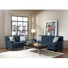 Finley Casual Blue Three-piece Living Room Set
