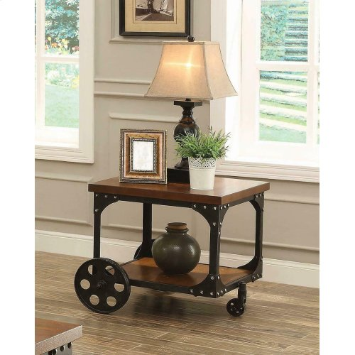 Rustic Cherry End Table