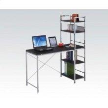 Black/chrome Computer Desk