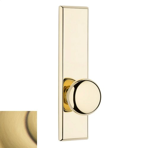 Satin Brass and Brown Traditional K011 Knob Screen Door