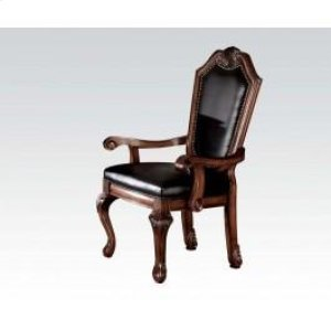 Arm Chair With Black Pu