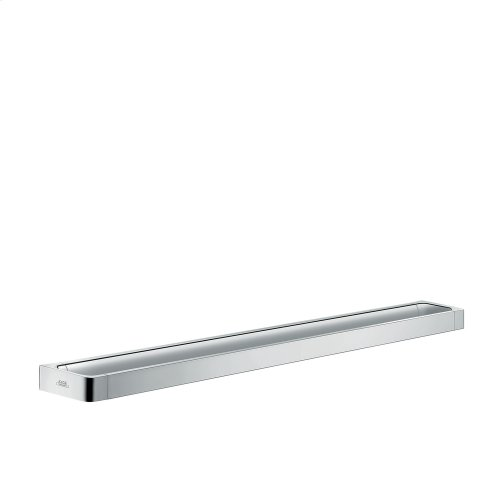 Brushed Chrome Rail bath towel holder 800 mm