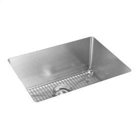 """Elkay Crosstown 16 Gauge Stainless Steel, 23-1/2"""" x 18-1/4"""" x 10"""" Single Bowl Undermount Sink Kit"""