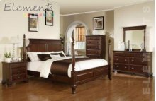 Canton King Poster Bed (*Full Assembly Dimension*)