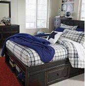 Jaysom - Black 4 Piece Bed Set (Twin)