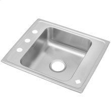 "Elkay Lustertone Classic Stainless Steel 25"" x 22"" x 7-5/8"", Single Bowl Drop-in Classroom Sink"