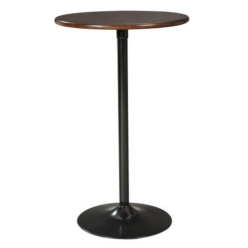 "Brookside 26"" Circular Metal Pub Table with Wood Top and 42"" Total Height, Cherry Wood Finish"