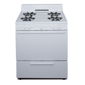Premier30 in. Freestanding Gas Range in White