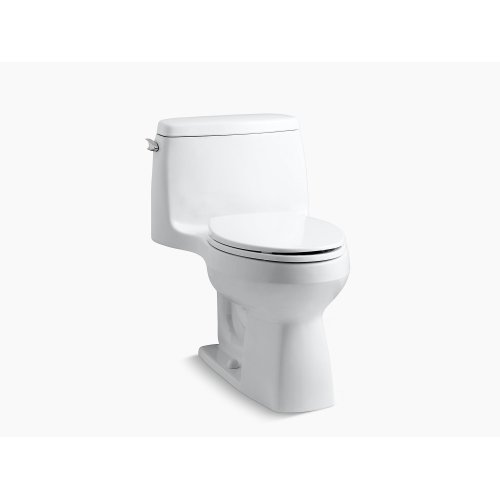 Black Black Comfort Height One-piece Compact Elongated 1.28 Gpf Toilet With Aquapiston Flushing Technology and Left-hand Trip Lever