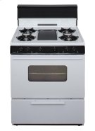 30 in. Freestanding Battery-Generated Spark Ignition Gas Range in White Product Image