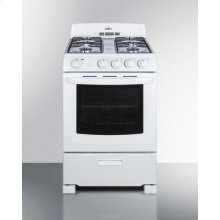 "24"" Wide Gas Range In White With Sealed Burners and Oven Window; Replaces Rg244w"