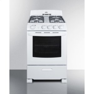 "Summit24"" Wide Gas Range In White With Sealed Burners and Oven Window; Replaces Rg244w"