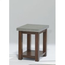 Chairside Table - Nutmeg and Cement Finish