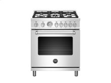30 inch Dual Fuel, 5 Burners, Electric Oven Stainless