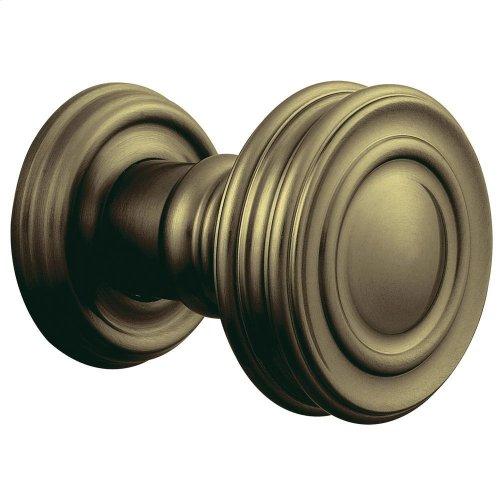 Satin Brass and Black 5066 Estate Knob