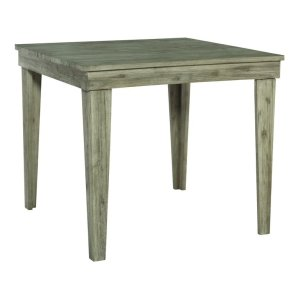 JOHN THOMAS FURNITURE42X42 ASPEN PUB HEIGHT DINING TABLE IN GRAY WASH