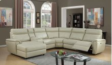 Brayden Taupe Power Leather Gel Reclining Sectional