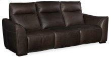 Living Room Athena Power Leather Motion Sofa