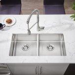 American StandardPekoe 35x18 Double-Bowl Stainless Steel Sink  American Standard - Stainless Steel
