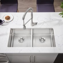 Pekoe 35x18 Double-Bowl Stainless Steel Sink  American Standard - Stainless Steel