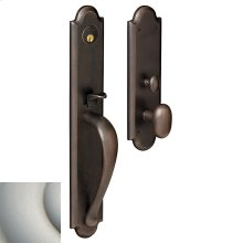 Satin Nickel with Lifetime Finish Boulder Full Escutcheon Trim